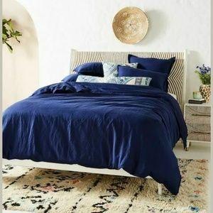 Anthropologie Bedding - NEW Anthropologie Cotton Linen Duvet Set w/ Shams